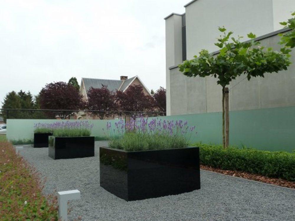 polyester_plantenbak kleur zwart