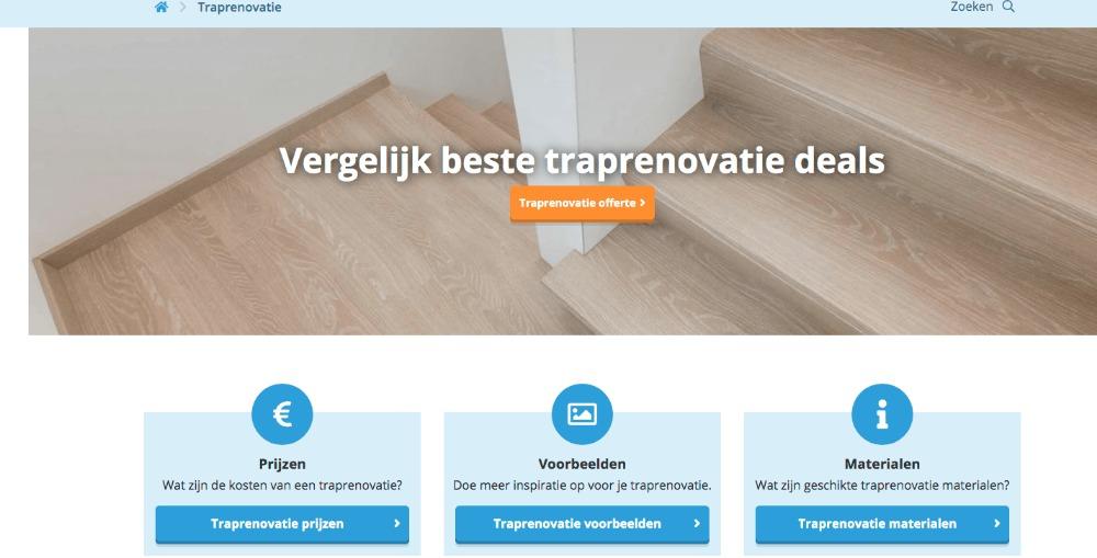 vergelijkingswebsite traprenovatie