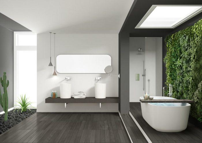 Hoe renoveer je de vloer en wanden van een badkamer?
