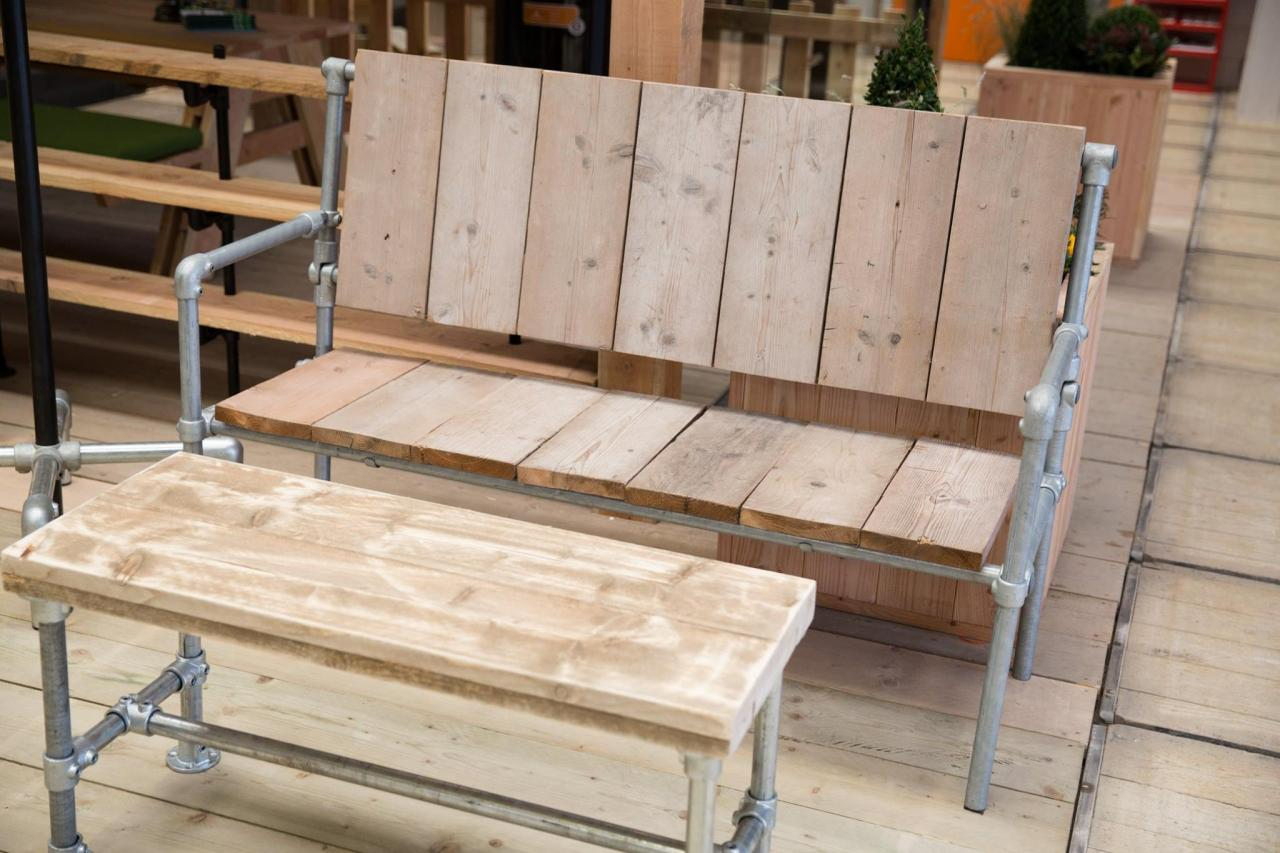 zelf meubels maken steigerpijp